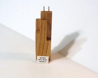 Chicago's Sears Tower Willis Tower Made of Oak Wood