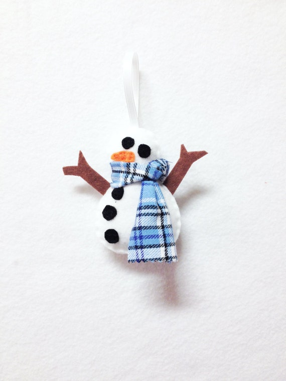 Snowman Ornament, Snowmen Ornament, Christmas Ornament - Spencer the Snowman- Made to Order, Holiday Decoration