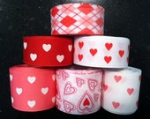 Lot of Valentine's Ribbon - Destash