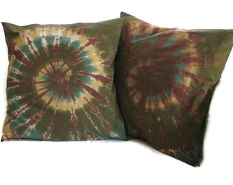 Tie Dye Camo Woodsy XL Throw Pillow Case