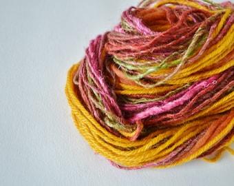 Autumn Fringe Kit, Yarn Bundle for Fiber Arts, Scrapbooking, Creative Gift Wrap, Crafts. DIY Yarn Kit, 20+ Yards. Set 2.
