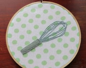 "6"" Whisk Hoop Art"