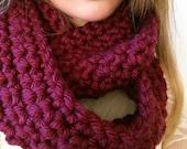 Wine Infinity scarf