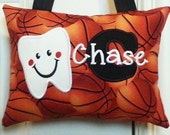 Tooth Fairy Pillow for Boys Personalized Basketballs