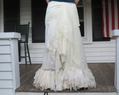 Vintage Lace Bohemian Skirt Made in the USA Reserved for Edith