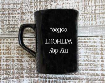 Personalized Coffee Lover Mug, Custom Coffee Mug, Engraved Mug, Personal Engraved, Family Name Mu
