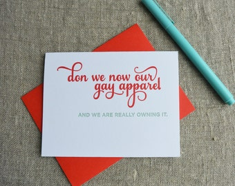 Letterpress Holiday Card - Gay Apparel