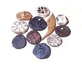 Rustic Ceramic Pendant Mix Neutral Shades