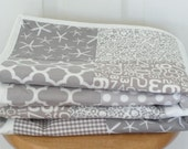 54 Squares of Gray Quilt: Ready to ship, gender neutral quilt, baby bedding, Crib Quilt, Baby Shower gift, patchwork quilt, gray, grey.