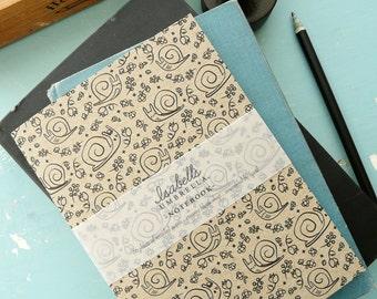 Snail Patterned Notebook, Sketch Book, Journal