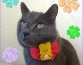 Easter Bunny Rabbit - Spring Time - Felt Bowtie - Holiday Pet Fashion - NeckWear Accessory ( Dark Pink ) Polka Dot - Premade - READY TO SHIP