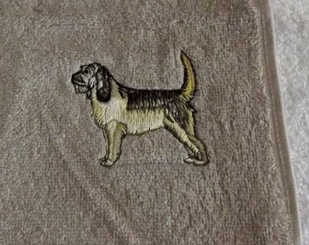 Otterhound Dog Embroidered Face Cloth/ Flannel