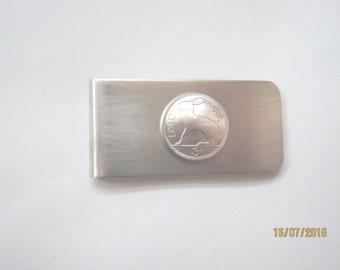 Coin money clip-Irish Hare money clip -free shipping