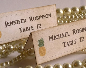Place Cards, Wedding Place Cards, Etsy Weddings, Pineapple Wedding, Escort Cards, Vintage Wedding, Wedding Stationery, Fun Wedding Ideas