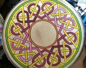 Reserved Listing for Johnmcook - 18 inch Custom Painted Celtic Knotwork on Irish Bodhran Drum