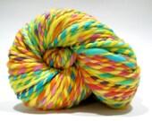 Hand Dyed Merino Wool - 2 Ply Bulky Weight Yarn – Yellow Rainbow Yarn – 74 Yards