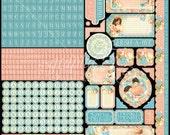 Graphic 45 Precious Memories 12x12 Stickers