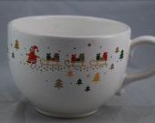 Vintage Waechtersbach German Christmas Santa Clause Ceramic Cup or Mug 1960's