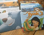 Jungle Book II - recycled book pages into envelopes