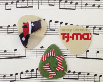 Guitar Picks - recycle Upcycled pick plastic gift cards for your Ukulele Guitar Mandolin - Scottie Dog