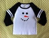Snowman Raglan Children's T-Shirt