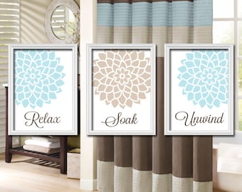 Bathroom Wall Art Canvas Or Prints Bathroom Pictures Aqua Blue Beige Relax Soak Unwind