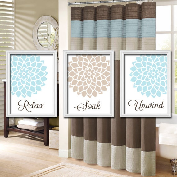 Bathroom Decor Artwork : Bathroom wall art canvas or prints pictures aqua