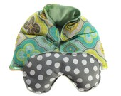microwave heat therapy, rice bag, heating pad, cold therapy neck wrap/eye mask gift set, aromatherapy