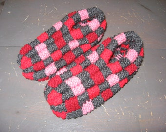 Knitting Pattern For Checkerboard Slippers : Popular items for checkerboard slipper on Etsy