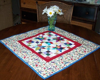 Quilted table topper Bright Stars