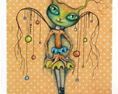 CLEARANCE Original art by Angieclementine - BABYCAT ANGEL