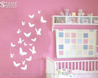 Butterflies Wall Decal - Butterflies Vinyl Wall Art Decor Graphics - K102