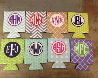 Design your Own 12oz Can Coolie - Can Huggie - Can Cozie. Beverage Sleeve Monogram Fits Beer or Soda for Custom Design Drinks