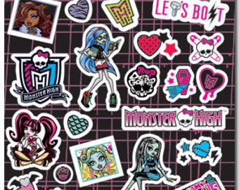 Monster High Sticker (2 Sheets of Stickers) Monster High Birthday Party • Monster High Party • Scrapbooking • Party Favors (ST5523)