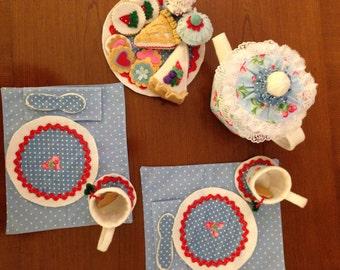 Fabric and Felt Tea Set