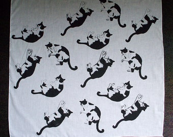 Oliver the Tuxedo Cat Voile Scarf