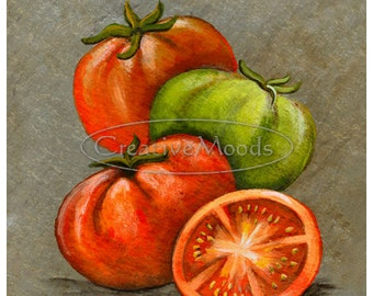 Colorful Tomato Art Print