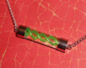 Resident Evil - Anti-Virus Necklace - Green Charm Pendant