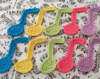 Crochet Music Note Appliques