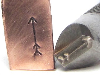 Big Arrow 8 x 2 mm design stamp professional grade  with you in mind for stainless.