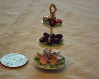 Miniature 3 tier Easter food tray