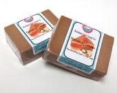 Hazelnut Cream Goats Milk Soap Handmade GIANT Bar SLS Detergent Free