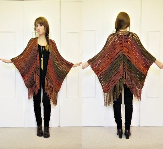 Crochet kimono cardigan ombre pattern crochet kimono tassel