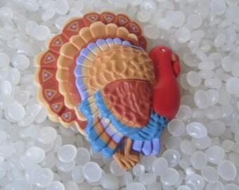 Vintage Thanksgiving turkey brooch pin