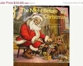 On Sale Now 1975 The Night Before Christmas, Santa, Kris Kringle, Christmas Tree, Illustrations by Douglas Gorsline retro 1970's X-Mas