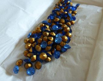 144  Vintage Sapphire German 7mm Dentelle Stones C27