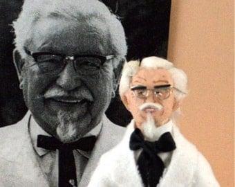 Colonel Harlan Sanders Doll Miniature Celebrity Art