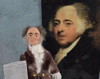 John Adams Doll Historical American President Miniature Art