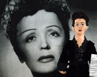 Edith Piaf Doll Miniature Historical Miniature French Singer
