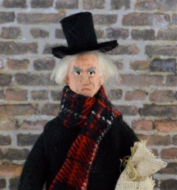 Dickens Doll Ebenezer Scrooge Doll Miniature Character